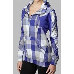 lululemon leader of the track jacket plaid